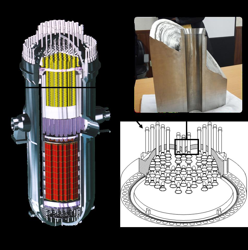한국형 원전개념도와 원자로 상부헤드 모습